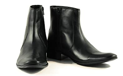 mens classy black leather chelsea ankle boots zip up uk. Black Bedroom Furniture Sets. Home Design Ideas