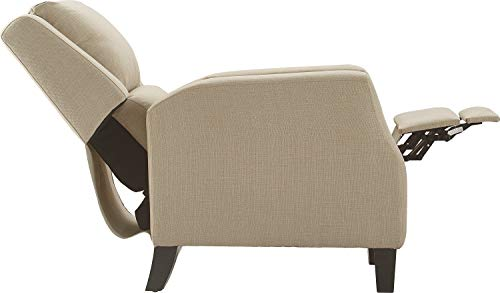 Truly Home UPH10161b Bristol Push Back Recliner Beige