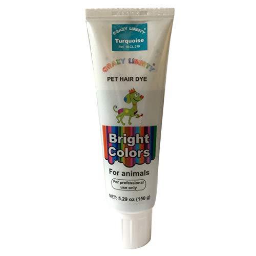 CRAZY LIBERTY Dog Hair Dye Gel, 5 Ounces, Permanent, Non-Toxic (Turquoise)