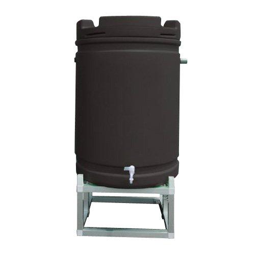 安全興業 雨水タンク アルミ架台付き 茶 ×1 B00TZEFKAW