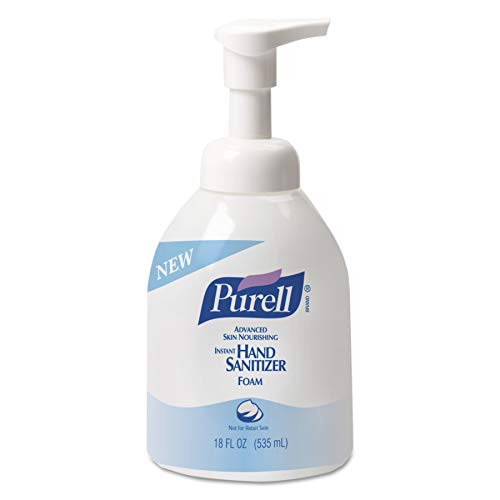 PURELL Advanced Hand Sanitizer Skin Nourishing Foam, Fragrance Free, 535 mL Sanitizer Foam Table Top Pump Bottle (Case of 4) - 5798-04