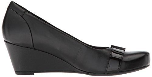 Clarks Pumps Black Poppy Flores Women's Leather r4Ur1