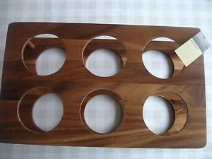 Acacia Wooden 6 Bottle Wine Rack Holder Storage Ideal For 75cl