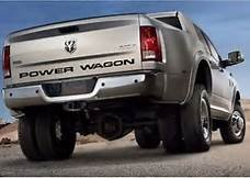 POWER WAGON REAR DECAL (55 INCH) BLACK