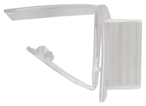 Displays2go Retail Sign Shelf Talkers, Set of 400 Price Tag Clips, Teeth Grip, Clear Plastic (SUPGRIP64) (Store Aisle Signs)