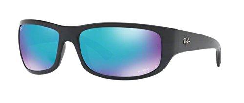 Ray-Ban Men's Injected Man Polarized Iridium Rectangular Sunglasses, Black, 64 - Ultra Ban Ray