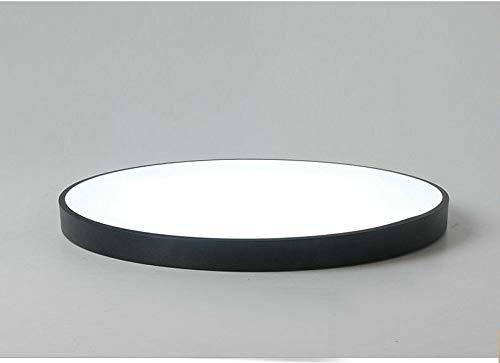 FidgetGear Ultrathin Modern Simple LED Kitchen Bathroom Restaurants Balcony Ceiling Light Black 23cm by FidgetGear (Image #6)