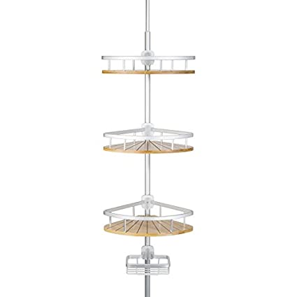 Amazon Com Richards Homewares 4 Tier Shower Bathtub Tension Pole