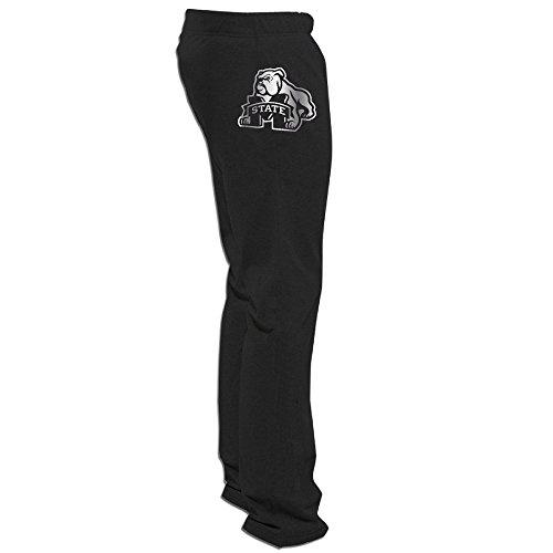 Mississippi State Bulldogs1 Platinum Logo Men's Fleece Pant Black ()