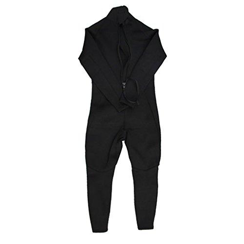 MonkeyJack Womens 3mm Black Neoprene Long Sleeved Full Body Wetsuit Back Zipper Rash Guard Shirts Jumpsuit for Diving Surfing Scuba Swimming - S ()