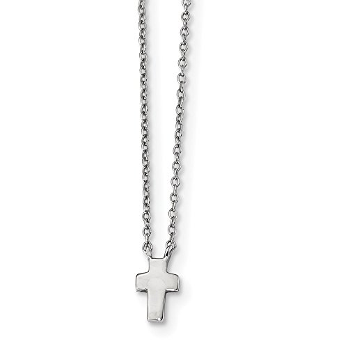 925 Sterling Silver 2 Inch Extension Cross Religious Chain Necklace Pendant Charm Fine Jewelry Gifts For Women For Her -