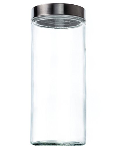 Glass Dia Top (Food Saver Tall Clear Glass Storage Container Jar with Airtight Lid, 67 oz (1))