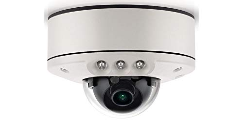 (ARECONT VISION AV3556DNIR-S IP Camera, Micro Dome, 3 Megapixel, 21 FPS, Surface Mount, Day/Night, Indoor/Outdoor, H.264/MJPEG, 2.8 MM Lens, 5.7 Watt, IP66, IK10, PoE, with IR LED)
