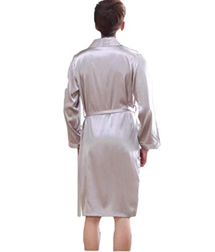 Camicia Taglie Bagno Raso Abiti Notte Camicetta Uomo Accogliente Accappatoio Comode Da Bianca Casa Acetato In Seta Ntel ArfxrqX