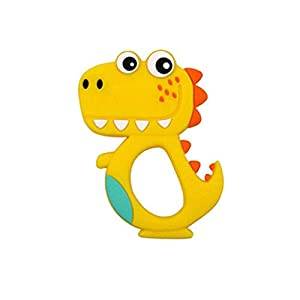 JYC Store Dinosaur Kid Baby Teether Food Grade Silicone Soother Chewable Teething Toy