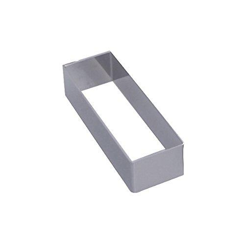 De Buyer 3943.12 Stainless Steel Rectangular Ring, Sharp Corners 12 x 4 cm, 3 cm High 394312
