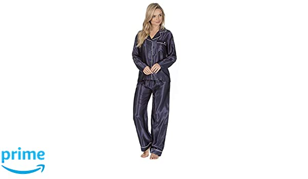 Mujer Satén Seda Set Pijama SEDOSO DE CASA Pijama Nuevo Mejorado: Amazon.es: Ropa y accesorios
