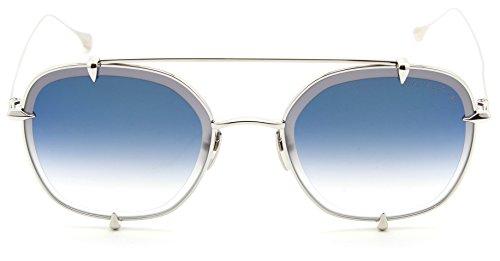 Dita 23009-A TALON-TWO Unisex Aviator Titanium Sunglasses Blue Flash - Sunglasses Aviator Dita