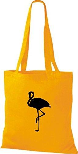 Shirtinstyle - Bolso de tela de algodón para mujer - yellow