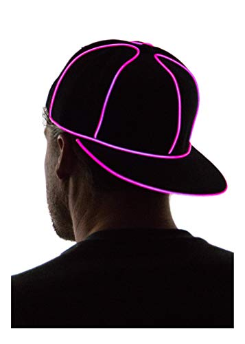 Neon Nightlife Light Up Snapback Hat, Pink ()
