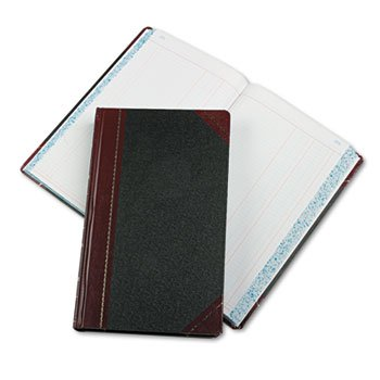 Boorum & Pease Account Books,Journal Ruled,14-1/8x8-5/8'',500 Pgs,Black/Red by Boorum & Pease