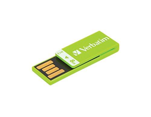 Verbatim 8GB Clip-it USB Flash Drive, Green 43936