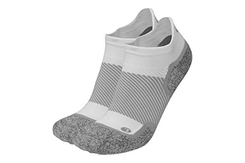OrthoSleeve WC4 Wellness Care Socks (One Pair) for sensitive feet, diabetes, edema, neuropathy and circulation support (Medium, No Show White)
