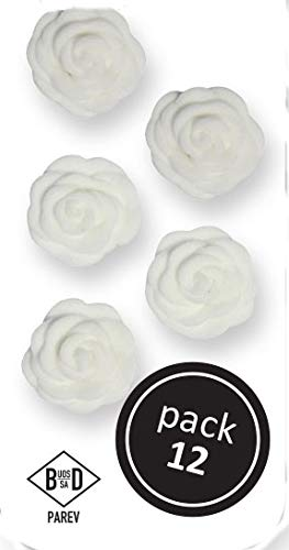 - PME WHITE Cupid Roses Floral Flowers Icing Sugar Cup Cake Decorations 12 Pack