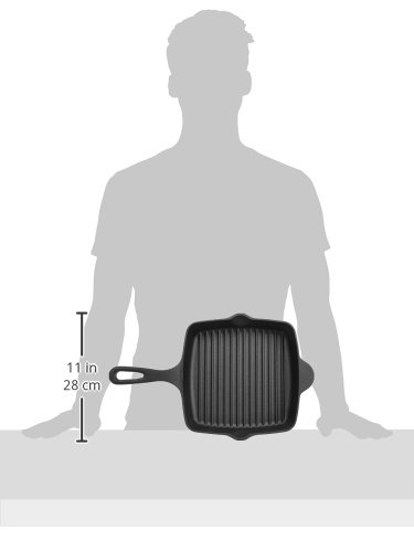 AmazonBasics Pre-Seasoned Cast Iron Square Grill Pan - 10.25-Inch by AmazonBasics (Image #6)