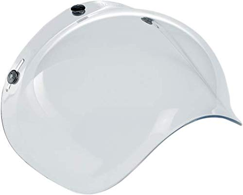 Biltwell Solid Bubble Shield (Clear, One Size)