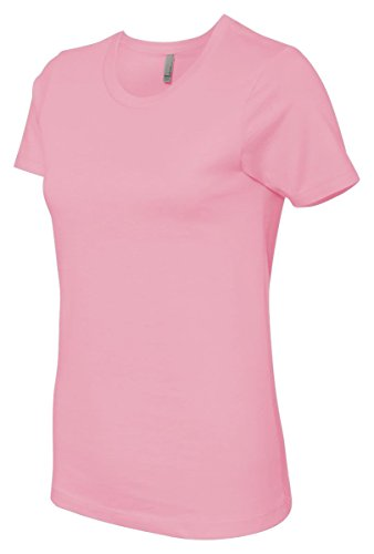 Women's boyfriend tee style t-shirt. (Light Pink) (Friend Womens Light T-shirt)