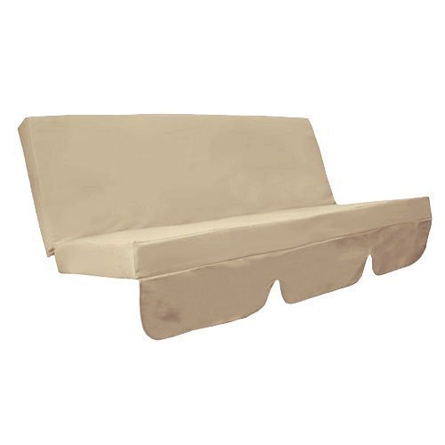 Water Resistant Swing Seat Bench Cushion for Garden Hammock in Stone Beige Gardenista