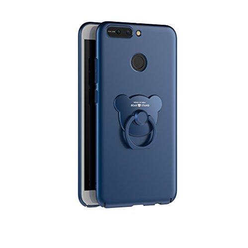 Huawei Honor V9 , Huawei Honor 8 , Cases and covers Alta Calidad Ultra Slim Anti-Rasguño y Resistente Huellas Dactilares Totalmente Protectora Caso de Plástico Duro Cover Case,+Ring stand holder(AQM-0 C