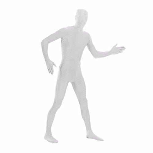 DreamHigh DH Men's Lycra Spandex Full Body Costume Zentai Suit (L White) -