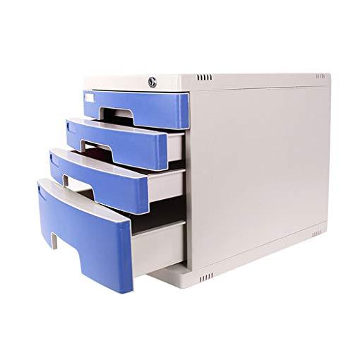 Gabinete para archivos de plástico Oficina en casa Cocina Garaje Salón Maquillaje Caja de almacenamiento de joyería 4 Lazo...
