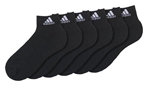 Negro Unisex Adidas Hc Calcetines 3s An Per 6p axa68