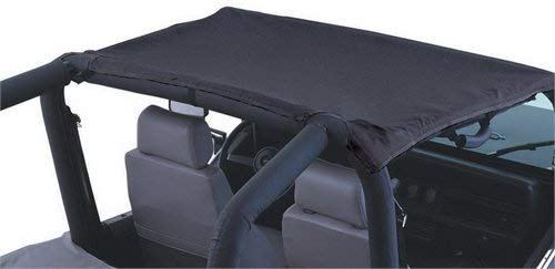 Extended Rampage Products 92525 Black California Brief Mesh Soft Top for 2018 Jeep Wrangler JL