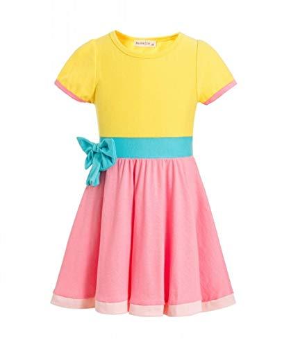 (Waruila Fancy Dress Child's Fancy Dress Costume Nancy Princess Costume My Friend Dress Birthday Pageant Party Dance Outfits Evening Gowns (Pink,)