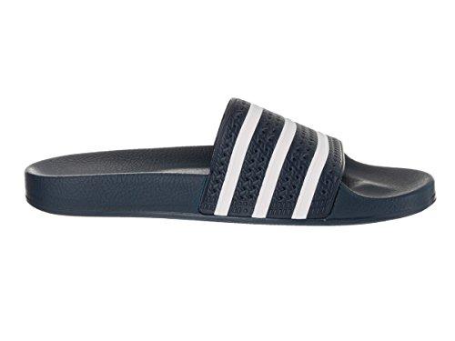 adidas Herren Adilette Slide Sandale Adiblue / Weiß / Adiblu