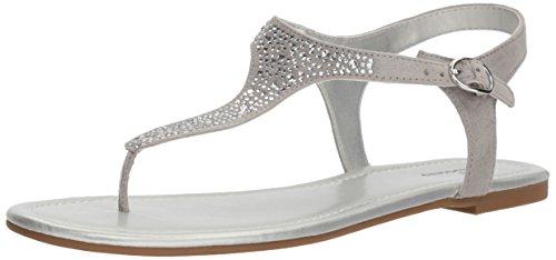 Bandolino Women's Kyrie Sandal, Opal Grey, 9 M - Womens Sandals Silver