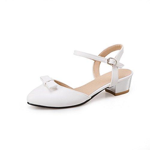EU Blanc AdeeSu Femme Ouvert 36 Bout Blanc 5 qxt0RP