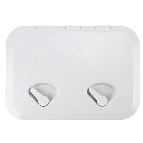 Amarine Made Marine Deck Hatch Boat Deck Hatch Access Hatch & Lid 12-3/8 X 17-1/4 - White - 315mmx440mm