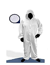 Overol Lavable con capucha uso Medico e Industrial UNI TALLA