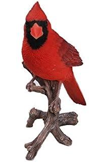 GIFT BOXED Cardinal Bird On Branch Statue Sculpture Figurine