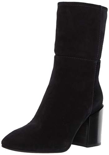 Aquatalia Women's FABRIANA Suede Ankle Boot, Navy, 6.5 M US