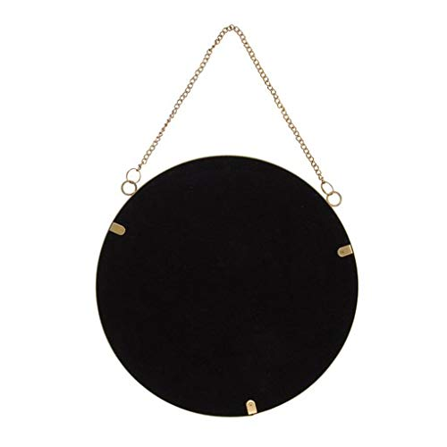 NEW Black Vintage Inspired Round Hanging Mirror Chain Chic Sass /& Belle
