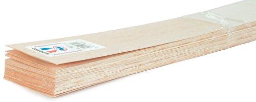 Balsa Wood 36 Inch Sheets - 5PK/1/2 Inch x3 Inch
