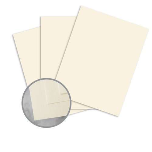 CLASSIC Linen Baronial Ivory Card Stock - 8 1/2 x 11 in 80 lb Cover Linen 30% Recycled 250 per Package ()