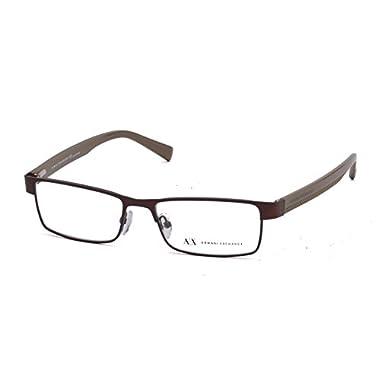 f3fe1de0d7b Armani Exchange AX 1009 Men s Eyeglasses Satin Coffee   Capers 53