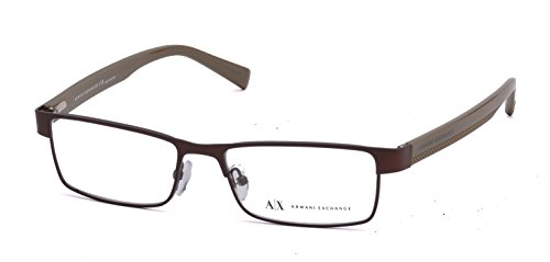 Armani Exchange AX 1009 Men's Eyeglasses Satin Coffee / Capers 53